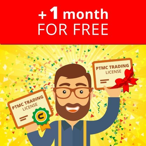 Get free month to your license!