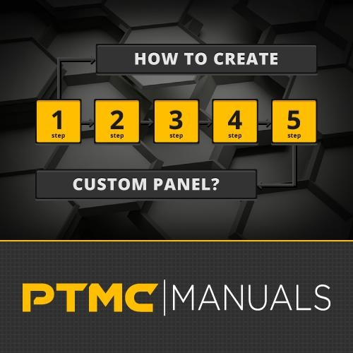 How to create a PTMC custom panel in a 5 steps?