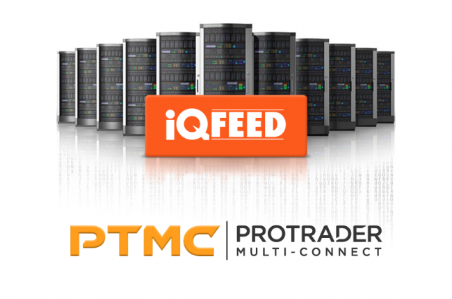 Get tick-by-tick market data via IQFeed connection to PTMC trading platform