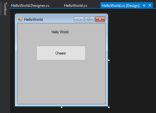 "Create a user interface for ""Hello world"" plug-in in PTMC trading platform"