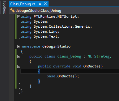 You can create an entry point for a debugging purpose