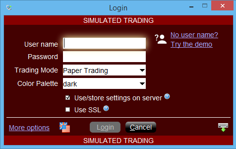 download and install IB software (TWS or Trade Workstation)