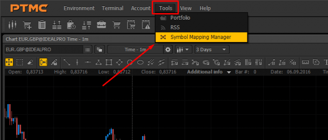 Tools Symbol Mapping Manager