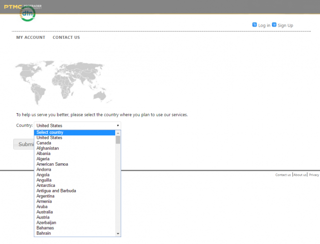 IQFeed_create_demo_account_ Select your country and proceed