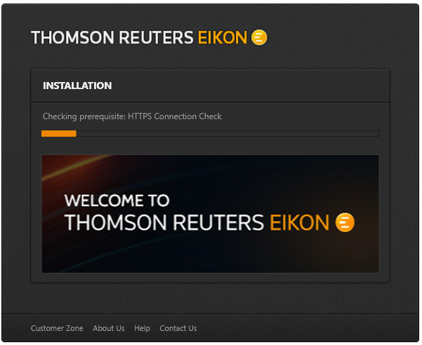 Thomson Reuters eikon installation