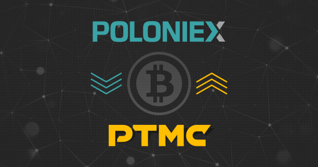 PTMC connected to POLONIEX crypto exchange